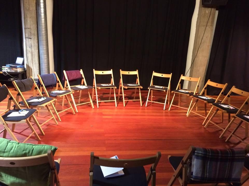 La sala, antes de comenzar