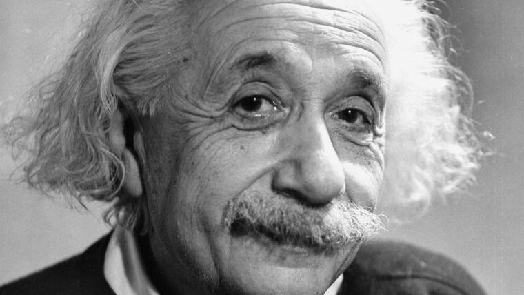 """Una bomba de amor"", por Albert Einstein"